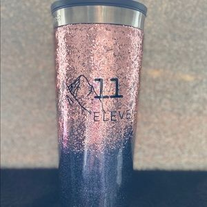 Insulated cup with straw
